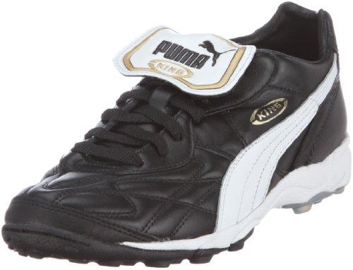 PumaKing Allround TT - Calcio scarpe da allenamento Uomo , Nero (Schwarz (black-white-team gold 01)), 42