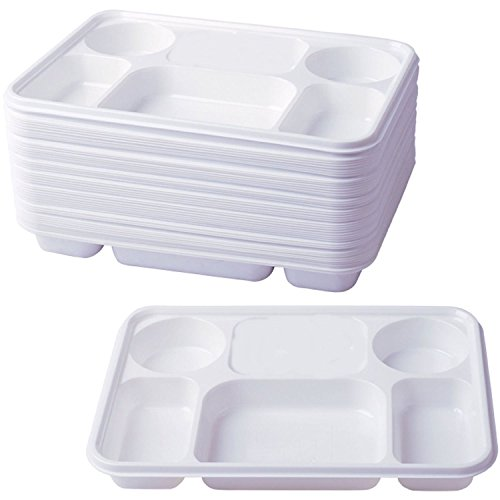 Deluxe Heavy Duty 6 Compartment Plastic Dinner Plates 50pc Party Home Food Disposable Section Tray Curry Thali Wedding BBQ  sc 1 st  Indian Khazana : disposable thali plates - pezcame.com