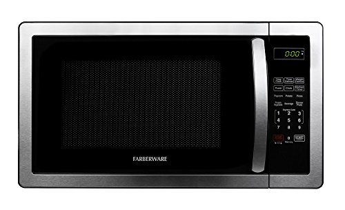 Farberware FMWO11AHTBKB Classic 1000W Microwave Oven, 1.1 cu. ft., Stainless Steel (Microwave Oven Small Stainless compare prices)