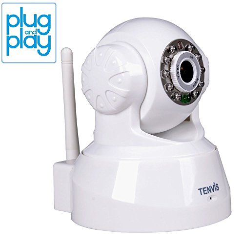TENVIS JPT3815W Wireless IP Pan/Tilt/Night Vision/Audio Surveillance Camera with Remote Monitoring (White)