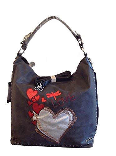beutel-shopper-love-heart-strass-neu-uvp-74-eur-schwarz