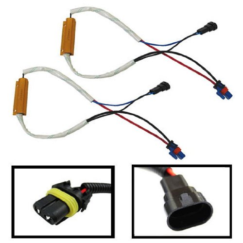 iJDMTOY Plug-N-Play Error Free Decoder Wiring Kit For 9005 or 9006 LED Bulbs on Fog Lights or Daytime Running Lights
