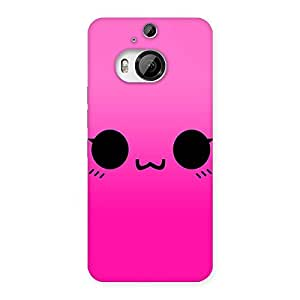 Cute Pink Face Back Case Cover for HTC One M9 Plus