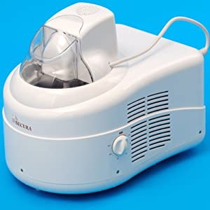 Secura Ice Cream Maker with Self-Refrigerating Compressor