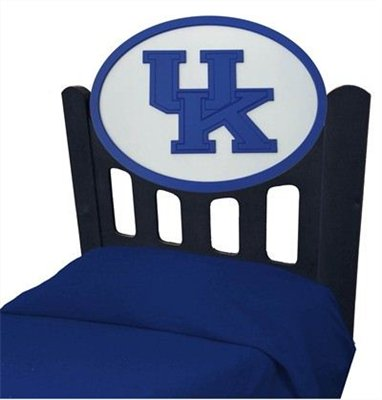 Cheap Kentucky Wildcats UK Kids Wooden Twin Headboard With Logo (C0526S-Kentucky)