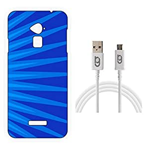 Designer Hard Back Case for Coolpad Note 3 with 1.5m Micro USB Cable