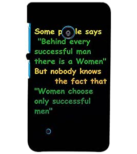 NOKIA LUMIA 530 TEXT Back Cover by PRINTSWAG