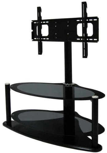 S & C Products ZIN421459/HYB Universal border print glass TV stand