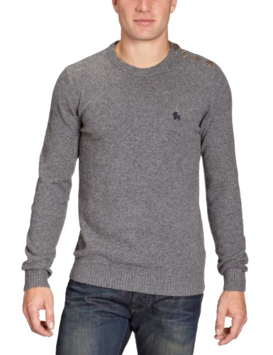 Jack and Jones Button O-Neck Men's Jumper JJ Grey Melange Small