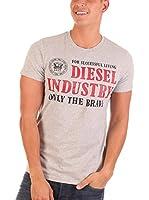 Diesel Camiseta Manga Corta T-Nola (Gris Claro)