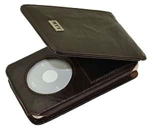 MTT Flip-Tasche für Apple iPod Classic Modelle - 30GB / 60GB / 80GB / 120GB / 160GB Video / in wash-dunkelbraun