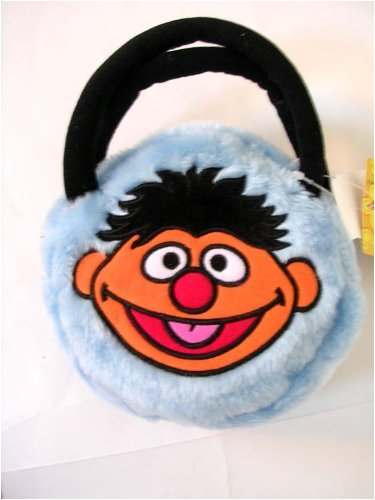 Sesame Street Workshop Ernie Furry Purse Handbag