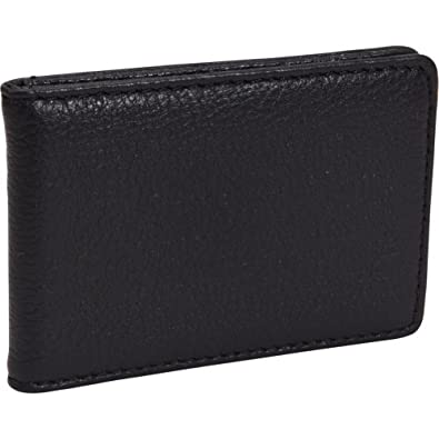 Bosca Tribeca Leather Front Pocket ID Wallet w/ Clip (Black)