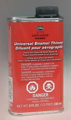 Thinner 8oz Metal can Testors