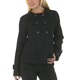 Mossimo® Black: Short Double-Breasted Jacket - Ebony