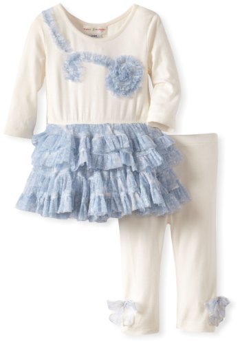 Best MIMI & MAGGIE Baby-Girls Infant Pretty Ballerina Dress, Natural, 6-9 Months