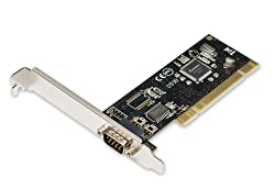 Best Connectivity SD-PCI15024 PCI One Serial Port Card with SystemBase Chipset SB16C1052PCI