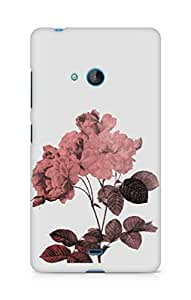 Amez designer printed 3d premium high quality back case cover for Microsoft Lumia 540 (Rose)