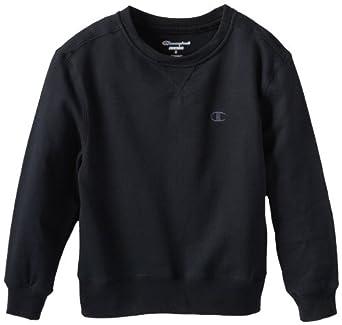 (3折)Champion Boys 8-20 岁男生穿休闲卫衣Authentic Fleece Crew海军蓝$7.29