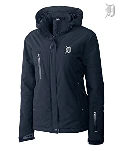 Detroit Tigers Ladies WeatherTec Sanders Jacket Navy Blue by Cutter & Buck
