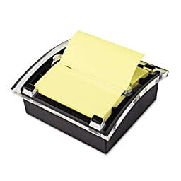 Post-it : Designer Series Clear-Top Pop-Up Note Dispenser for 3x3 Self-Stick Notes, Black -:- Sold as 2 Packs of - 1 - / - Total of 2 Each