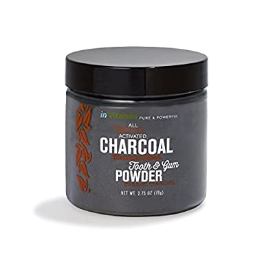 Natural Whitening Tooth & Gum Powder with Activated Charcoal, 2.75oz (Prime)