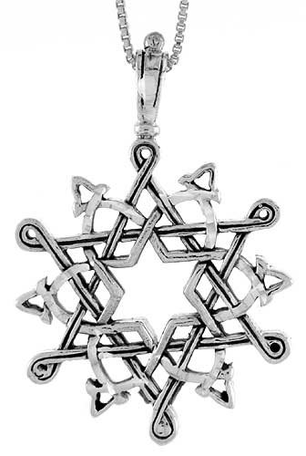 Sterling Silver Celtic Star of David Pendant
