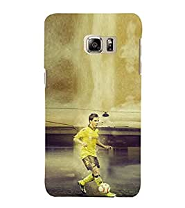 EPICCASE Striker In Yellow Jersy Mobile Back Case Cover For Samsung Galaxy Note 5 Edge (Designer Case)