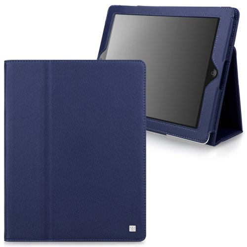 CaseCrown Bold Standby Case (Blue) for iPad 4th Generation with Retina Display, iPad 3 & iPad 2 (Built-in magnet for sleep / wake feature)