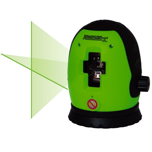 Johnson Level and Tool 40-6640 Cross-Line Self-Leveling Laser Level with GreenBrite Technology
