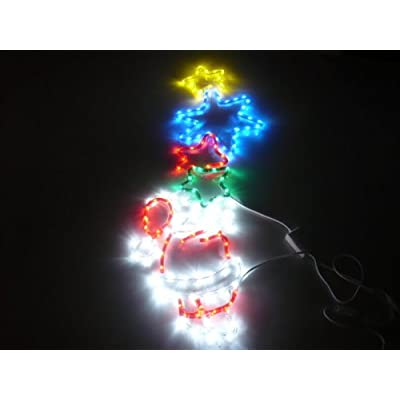 ORANGE TREE TRADE SANTA CLAUSE HOLDING STARS LED HOLIDAY SIGN, CHRISTMAS LIGHTS WITH CONTROLLER at Sears.com