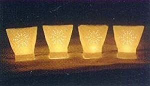White starburst electric luminaria light set for Electric walkway lights