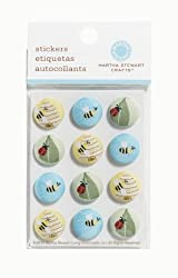 Martha Stewart Crafts Fabric Brads, Ladybug & Bees