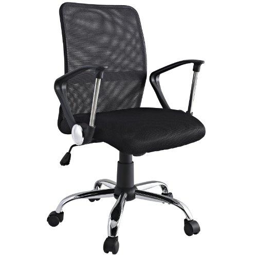 LexMod Pilot Breathable Mesh Task Swivel Office Chair in Black