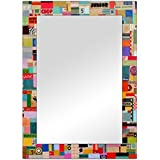 The Attic Monroe Mirror Frame (Glossy Finish, Brown)