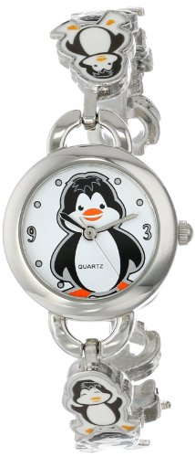Frenzy Kids' FR218 Penguin Novelty Analog Bracelet Watch image