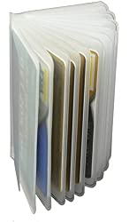 Plastic Picture Credit Card Wallet Insert - 12 Sleeves