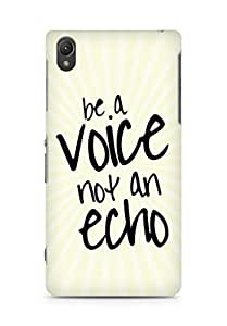 AMEZ be a voice not an echo Back Cover For Sony Xperia Z2