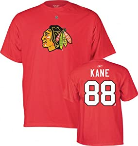 Patrick Kane Chicago Blackhawks RED Name & Number T-Shirt by Reebok