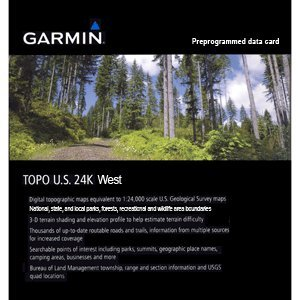 Garmin MapSource TOPO! US 24k West Topographic Coverage for California and Nevada (microSD/SD Card)