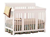 Hot Sale Stork Craft Tuscany 4 in 1 Fixed Side Convertible Crib, White
