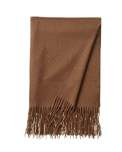 a & R Cashmere Waterweave Cashmere Throw, Cappuccino