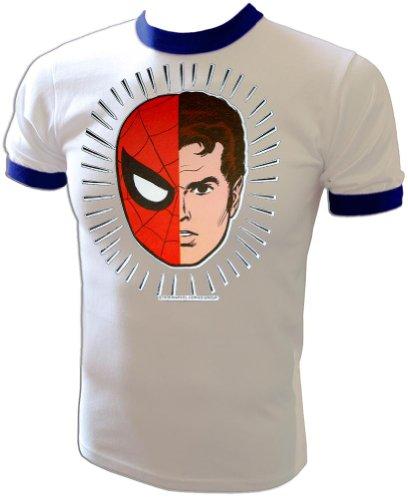 1982 Vintage Mego Style Alter-Ego Marvel Spiderman Peter Parker t-shirt (Marvel Ego compare prices)