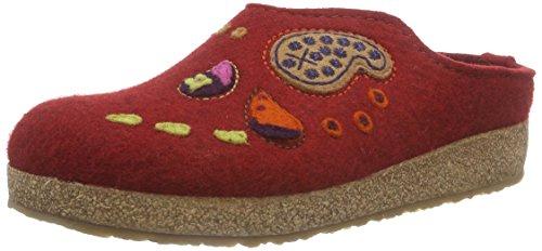 Haflinger India Pantofole Unisex - Adulto, Rosso (42), 37