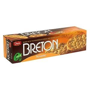 Breton Crackers, Sesame, 8-Ounce (Pack of 12)