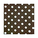 ArtOFabric Decorative Cotton Polka Dots Tablecloth in 59x108 Inch -Brown