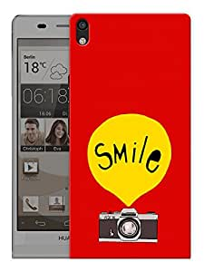 """Humor Gang Smile On Camera Printed Designer Mobile Back Cover For """"Huawei Acsend P6"""" (3D, Matte, Premium Quality Snap On Case)"""