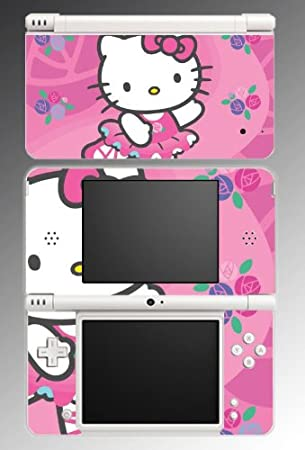 Cute Kitty Pink Princess Dress Game Vinyl Decal Cover Skin Protector 7 for Nintendo DSi XL
