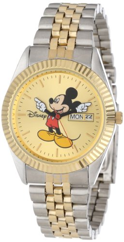 Disney Men's MM0060 Two-Tone Mickey Mouse Watch with Day and Date Movement