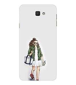 EPICCASE Shopping girl Mobile Back Case Cover For Samsung Galaxy J7 Prime (Designer Case)